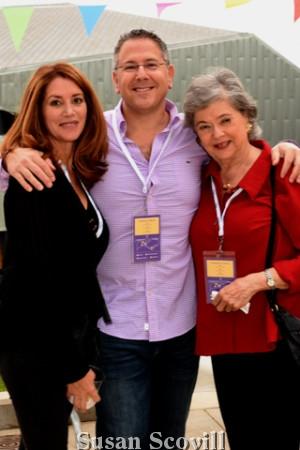 14. Caroline Hawkins and Jonathan Gusdorff shared a moment with Jonathan's mother Roz Fudell.