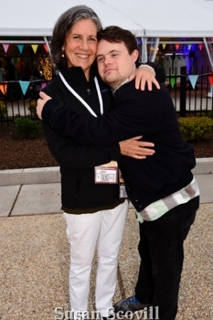 19. Joni Rose brought her son, Jeremy Diskin, to Camp Night the fundraising event.