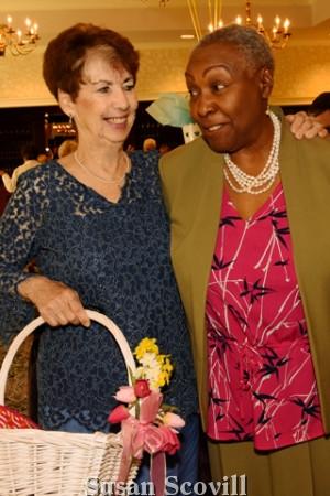 4. Connie Grazel chatted with Hazel Jefferson.