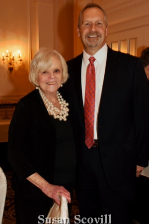 6. Conestoga Branch president Denise Degas paused for a photo with Paoli Hospital president Jim Paradis.