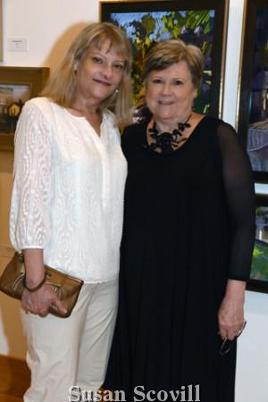 2. Nan Mangina shared a moment with Wayne Art Center's Executive Director Nancy Campbell.
