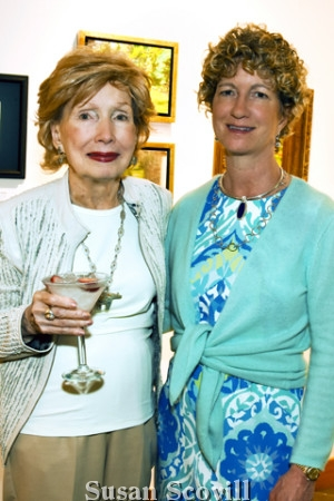 4. Kathy McCoy and her daughter Kip Bowman attended the Plein Air Collectirs' Soirée & Sale.