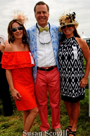 16, Jennifer and Christopher Franklin and Kay Dugery enjoyed the day at the annual race event