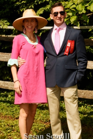 2. Picnic committee member Milica Schiavio paused for a photo with Dr. Scott Smith.