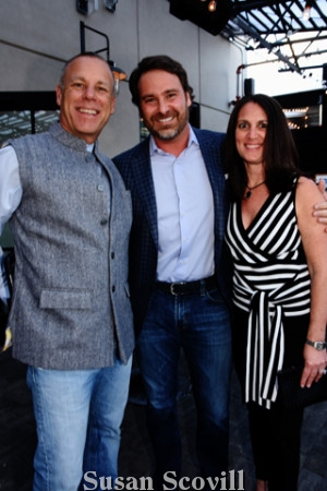 5. Bruce Newman paused for a photo with Dan and Sarah Bernstein.