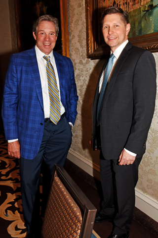 5. Brian Bobeck of Cornerstone Communities and Joe Panepresso of Univest attended the May luncheon.
