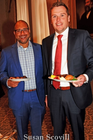 8. Neeraj Jassal of REMAX and Gerard Leib of American Global enjoyed the buffet luncheon.