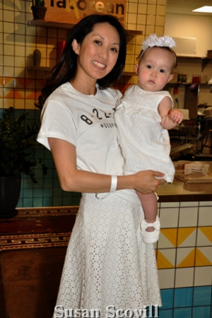 2. DEB co-chair Kayli McGovern brought her daughter Natalie to the kick-off event at The Bourse.