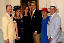 ESU members and guests celebrate Queen Elizabeth's birthday at the Kelly Home in East Falls