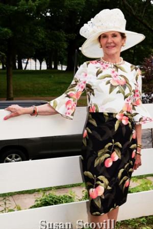 "Patsy Sauri won ""The Best Hat"" contest."
