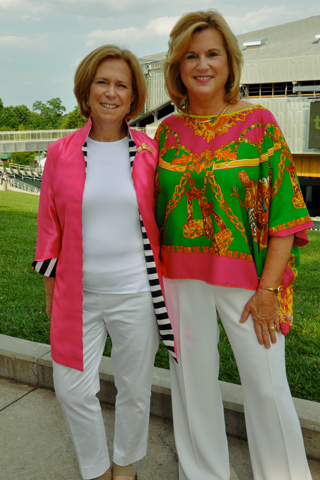 2. Nancy R. Newman, Executive Vice President at the Mann paused for a photo with president and CEO of the Mann Center, Cathy Cahill.
