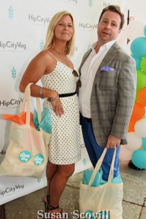 8. Suzy Pratowski and Loren Kagan attended the SneakPeek at HipCityVeg,