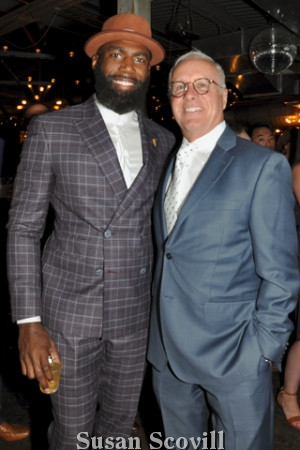 5. Eagles Player and Activist Makcolm Jenkins was also honored at the event. Malcolm was pictured with John Cordisco.