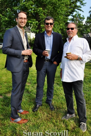 2 Darren Damone. José Aimiäana and Hal Jones attended the pop-up party.