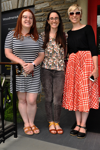 4. Emily Myles, Rachel McCay and Christina Warhola wsere pictured on Woodmere's porch.