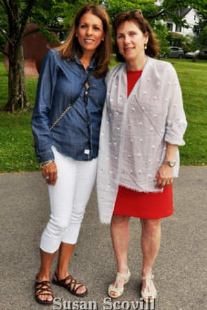 6. Board members Irma Fralic and Amy Branch paused for a photo.