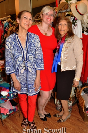 4. Conni and her mother Seda Alexandrian paused for a photo with Diana Schlosser wearing her new dress purchased at Touche!