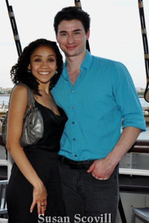 17. Pennsylvania Ballet's Nayara Lopes and Sterling Baca attended the Philly Current drop party on the Moshulu.