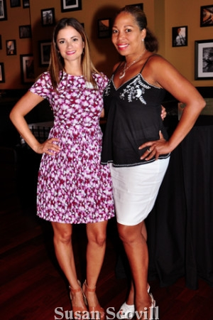 2. Sugar House Casino Community Relations Manager Emily Costa Doñes chatted Menzfit President Rhonda Willingham