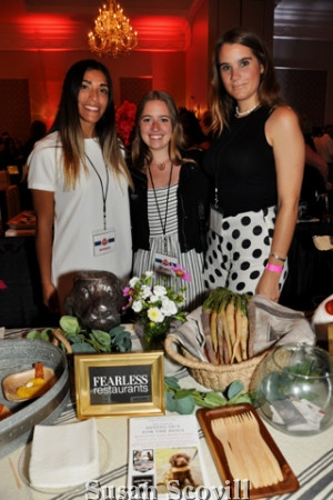 16. Erica Spadaccim, Julia Hardie and Haley Vaughn manned the Fearless Restaurants table