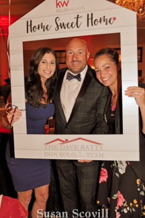 8. KellerWilliams Realtors Ashley Batty, Greg Basile and Lori Rogers paused for a photo in a frame!