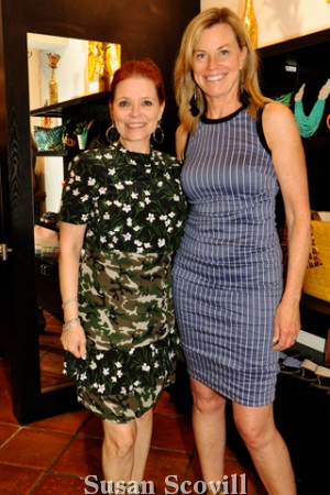 8. Cyndy Hazelton and Chrissy Schanne tried on Nicole Miller dressses.