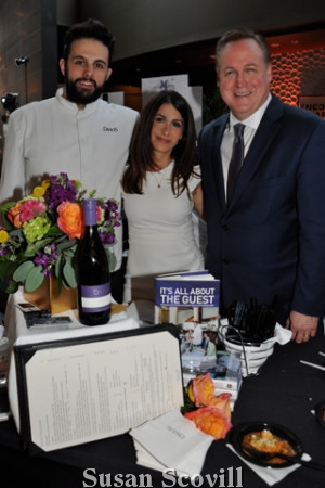 21. Davios brought samples of their menu to the event.Joey Martinelli, Anny Deese and Michael Dombrowski manned the Davios table.