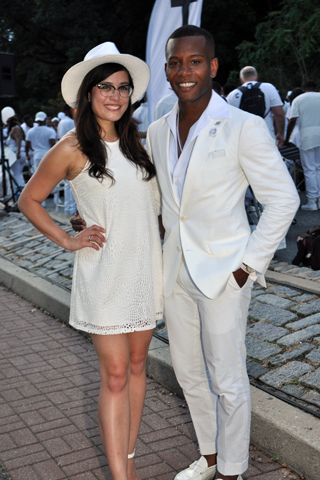 8. Gabrielle Ochoco attended with Sabir Peele, stylist and founder of Men's Style Pro.asnd ''Most Elegant Men'' judge.