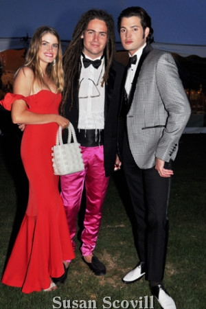 15. Kendall Zahringer, Morgan O'Connor and Peter Brant.