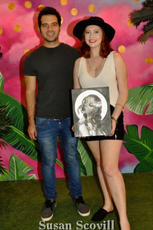 4. Chuck Clements and artist Emily Taylor Rogers brought ''Golden Sun Canvas'' to the event.