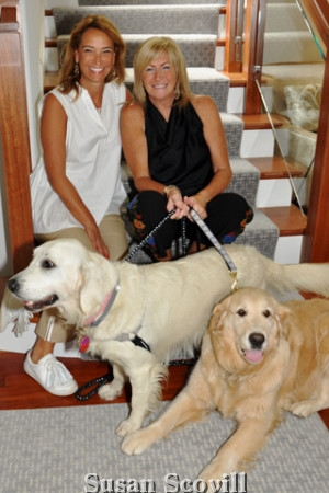 12. Lisa Brandt and Lisa Buckingham shared a moment with Lisa Buckingham's two dogs, Maggie and Millie!