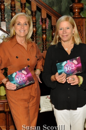 3. Invitation List Review host Linda Siegfried pausd for a photo with Cackie Rogers, the Academy of Music president.