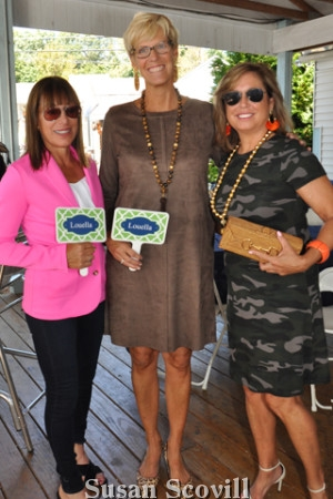 8. Tina Aberant, Marnie Bowen and Leslie Morgan modeled clothing from Louella's during the brunch.