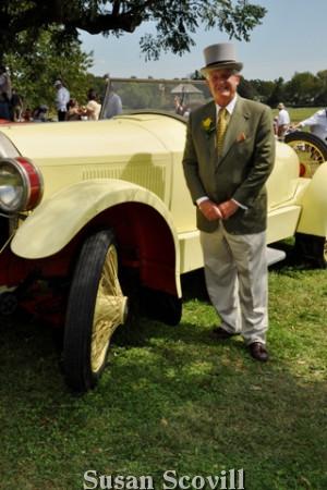 11. Devon Horse Show Chairman Wayne Grafton admired this 1922 Paige Speedster motorcar.