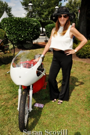 17. Laura Stacy liked the look of this 1974 Yamaha motorcycle