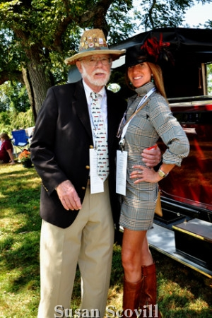 3. Radnor Hunt Concours d'Elegance officer Phil Tegmeier chatted with Public Reflations Guru Leslie Gross-Padilla during Sunday's Main Event.