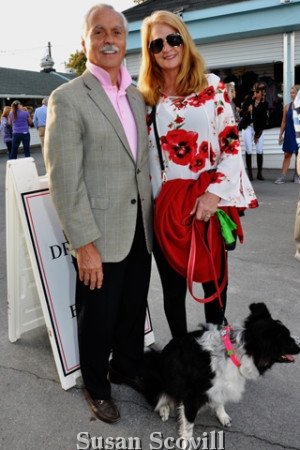 7. Greg Landis and Mary Jo Boucher brought ''Bubblebee'' to the dressage event!