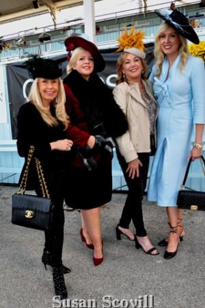 9. The always fabulous foursome, Deborah Van Cleve, Kathleen Keneally, Brigid Stasen and Zoya Egan attended Denim, Diamonds and Dressage.