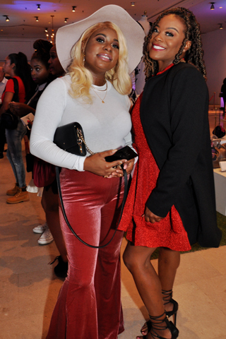 Kisha Barr and Davina Robinson enjoyed the the fashion show and its runway