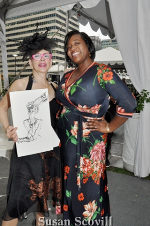 7. Illustrator Denise Fike drew images of the ladies! Amber Brooks was the next in line to be drawn by Denise!