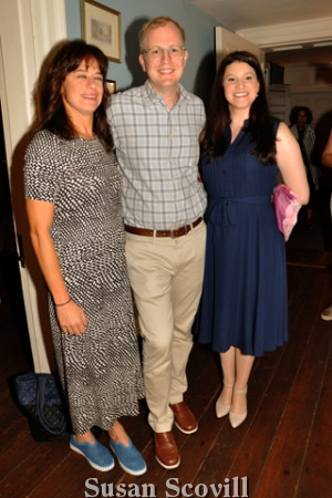 5. Liz Downey and Jonathan Cresswell paused for a photo with Philadelphia Society for the Preservation of Landmarks Development and Programs coordinator Fiona Elias