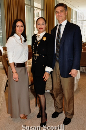 2. Christine Taylor and Lisa Silveri were pictured with David Stavetski.