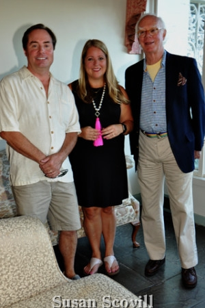 6. Willows Park Preserve board member Ted Pollard and Dan Zantzinger chatted with Renee Patrone, founder of Party Host Helpers.