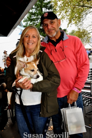 11. Adele and Tom Schneider brought Lucy, a Ratchi, to Yappy Hour.