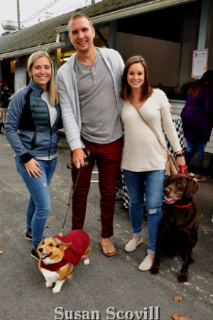 2. Brooke, T.J. Schneider and Nicole Lyons brought Harlow and Chaucer. to the event!