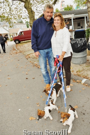 5. Lance and Vicki McCue and their Jack Russell dogs, Hank, Jeffrey and Greg, had fun at Yappy Hour.