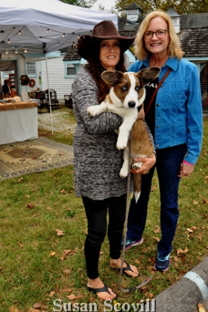 7. Karen Diabiasse (left) pictured with Jean Cryan (right) brought her Corgi, Pebbles, to Yappy Hour!