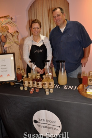 11. Gretchen Krawczyk of Party Hosts and Erich Sizelove of Bar Spoon served guests at the party.