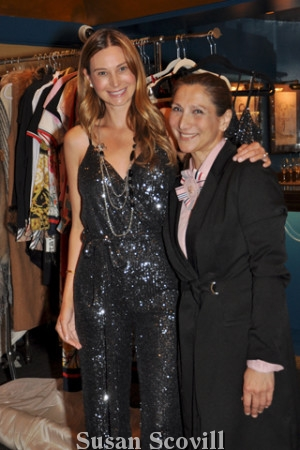4. Conni McDonnell of Touché Accessories helped Jennifer Griffin try on this sequin jumpsuit. The jumpsuit is available at Touché Accessories in the King of Prussia Mall.