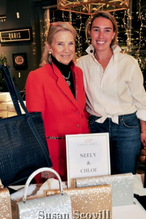 2. Barbara Ranck chatted with Neely Burch of Neely & Chloe.